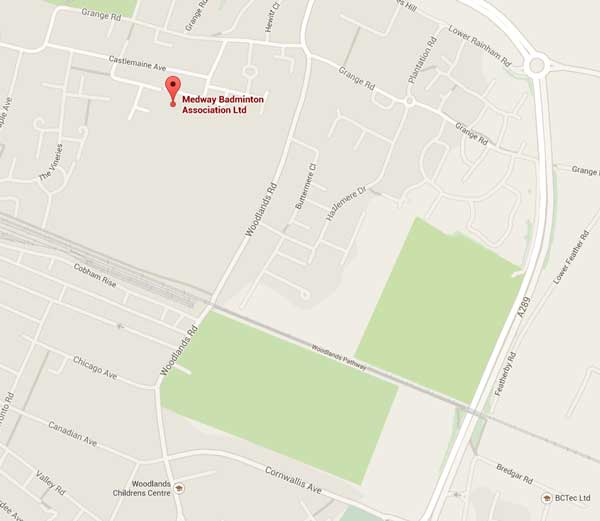 Click to get directions to Medway Badminton Association